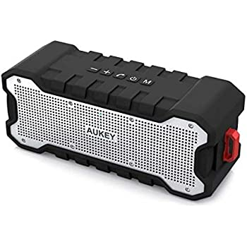 AUKEY Outdoor Speakers Wireless Bluetooth Speaker with 30-Hour Playtime and Enhanced Bass & Treble, Water-Resistant Wireless Speaker for Apple, Samsung, and other Devices