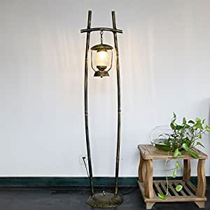 MGFLX Country Living Room Bedroom Restaurant Cafe Lights Warm Iron Kerosene Lamp Lantern Floor Lamps Size: 330 1610mm A++