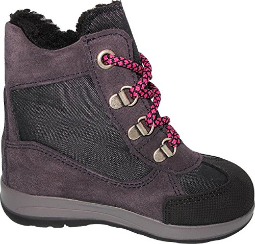 Helgas Modewelt Däumling Kinderschuhe, Heidi, Hohe Schuhe, Winterschuhe, Warmfutter, Lederschuhe lila (Turino pagoda)