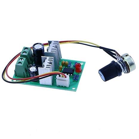 UEETEK 1203BB 6V 12V 24V 3A 80W Controlador de la velocidad del motor de la CC PWM Interruptor reversible ajustable del conductor del motor