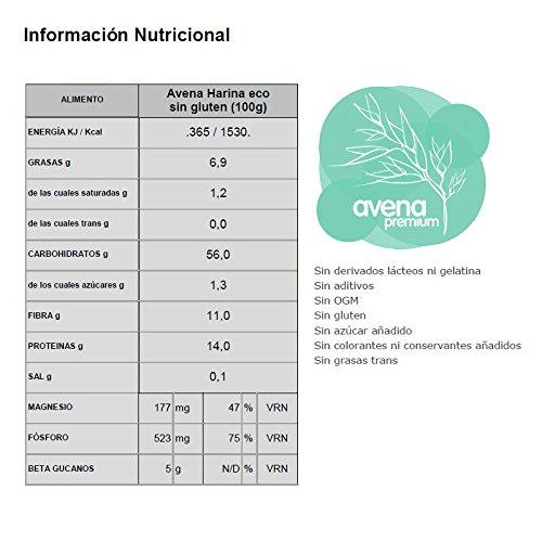 Energy Feelings Avena Ecológica Premium sin Gluten en Harina, XL - 500 gr: Amazon.es: Salud y cuidado personal