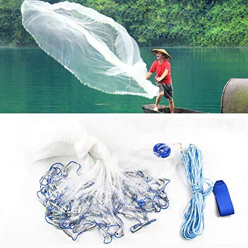 - TBVECHI Fishing Net Nylon Silk Nets Fishing Net Monofilament Gill Net Fish Net Hand Cast Fishing Net 6.6 Meter