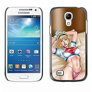 TopCaseStore / la caja del caucho duro de la cubierta de protección de la piel - Lingerie Babe Woman - Samsung Galaxy S4 Mini i9190 MINI VERSION!
