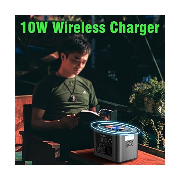 51OcW7ykIBS Enginstar Tragbare Powerstation 296Wh Solar Generatoren mit 230V Steckdose, Wireless Ladestation, USB/12V DC Ausgabe…