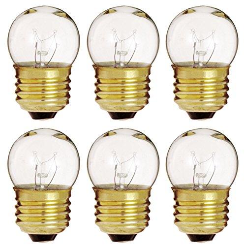 (6 Pack Of 7.5-Watt S11 Sign Indicator, 7.5S11 E26 Base Clear Incandesent Bulb)