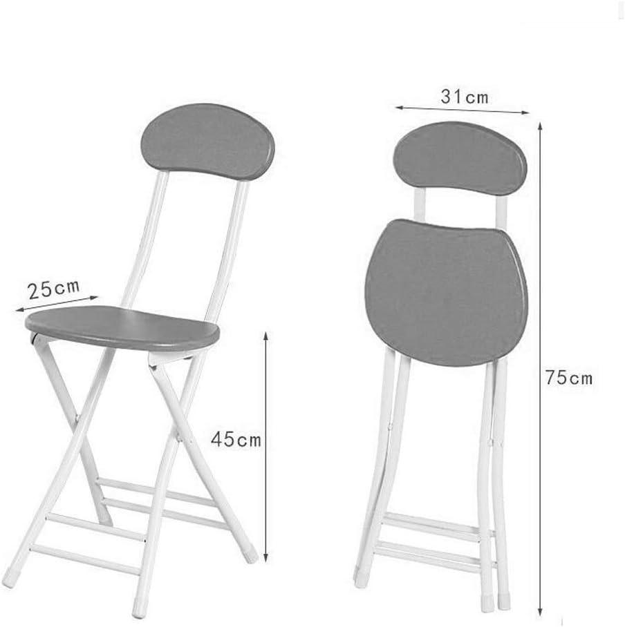 CHQYY Chaise - Chaise pliante - chaise à manger ronde à domicile, chaise, chaise de bureau pliable chaise d'ordinateur (Couleur : Marron) Blue