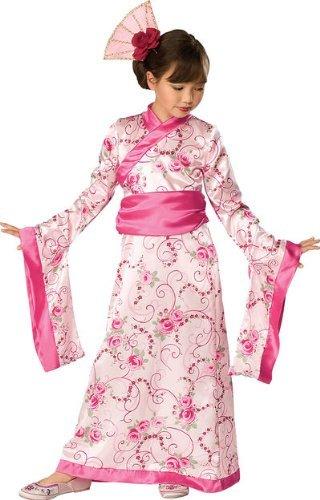 Asian Girl Costumes (Rubies Girls Asian Princess Halloween Kimono Dress Costume, 2T-4T,)