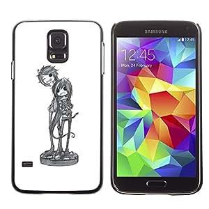 Be Good Phone Accessory // Dura Cáscara cubierta Protectora Caso Carcasa Funda de Protección para Samsung Galaxy S5 SM-G900 // cool band music art character sketch