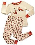 Leveret Kids & Toddler Pajamas Boys Girls Unisex 2 Piece Pjs Set 100% Cotton (Fox, 12-18 Months)