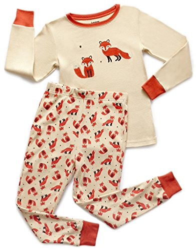 0ba7753ba Leveret Kids Pajamas Boys Girls 2 Piece pjs Set Animal Prints 100 ...