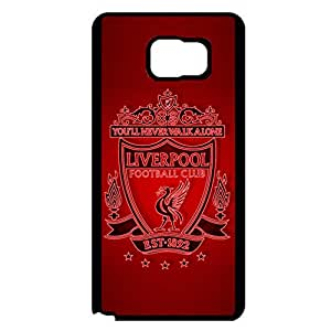 Official Liverpool Football Club Phone Case Retro Case for Samsung Galaxy Note 5 with Liverpool FC Logo Premier League Team Logo Series