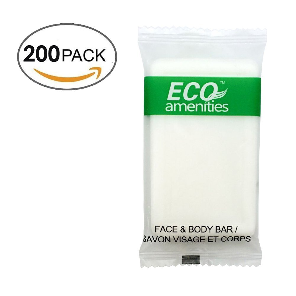 ECO Amenities Spa Sachet Individually Wrapped 1 ounce Cleaning Soap, 200 Bars per Case