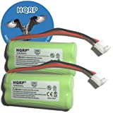 HQRP 2 pack HIGH QUALITY Phone Battery compatible with VTech CS6209 / CS 6209, CS6219 / CS 6219, CS6219-2 / CS 6219-2 Cordless Telephone + Coaster, Office Central