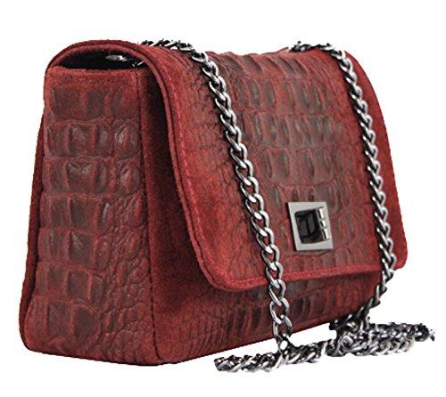 G&G PELLETTERIA - Bolso pequeño al hombro de Piel para mujer coñac
