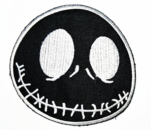 Black Nightmare Before Christmas Halloween Cartoon Movie patch Kid Baby Boy Jacket T Shirt Patch Sew Iron on Embroidered Symbol Badge Cloth Sign Costume