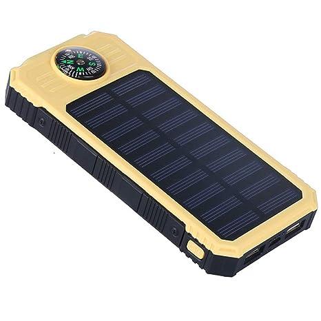JXFS - Cargador Solar para Smartphone, 10000 mAh, Resistente ...