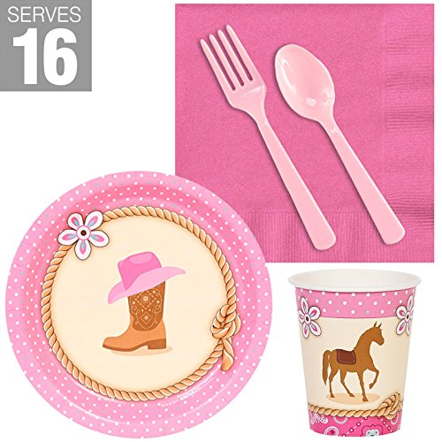 BirthdayExpress Western Cowgirl Party Supplies Snack Pack for 16