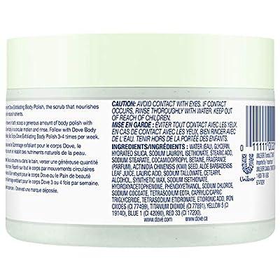 Dove Exfoliating Body Polish Body Scrub, Kiwi & Aloe, 10.5 oz