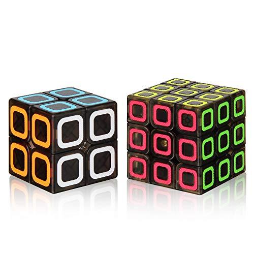 - Roxenda Speed Cube Set, Magic Cube Set of 2x2x2 3x3x3 Speed Cube Smooth Puzzle Cube Transparent Black