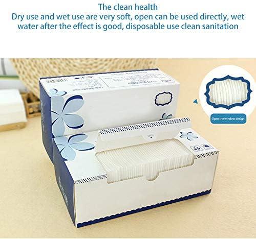 ACECITY Toallas de limpieza desechables Toallas de belleza para el rostro de algod/ón suave no tejidas h/úmedas y secas Toallitas port/átiles con doblez ZZ Maquillaje y limpieza 1 paquete 20pcs Blanco