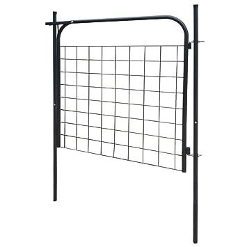 Senluowx Stahl Verzinkt Zaun Tor Garten Terrasse Sicherheit Barriere