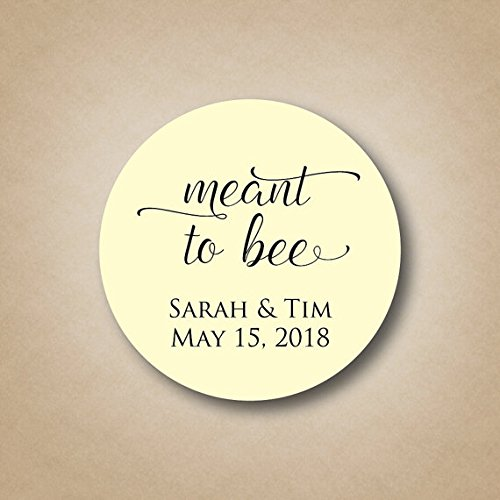 Meant to Bee Tags Honey Wedding Favor Labels Round Meant to be Personalized Stickers Bridal Shower Favors Decoration Ideas Favor Bag Sticker]()