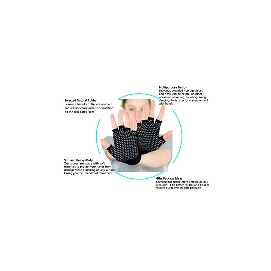 Yoga Pilates Texting Gripper Gloves Including 4 Pairs 4 Colors (Pink, Blue, Black, Gray) Gift Packed Non Slip Yoga Gloves Set For Yoga, Pilates, Texting, Lifting, Typing, Dancing, Women, Girl