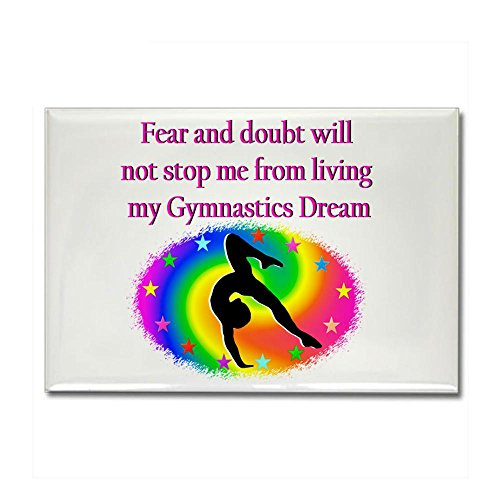 CafePress INSPIRING GYMNAST Rectangle Magnet - Standard Multi-color