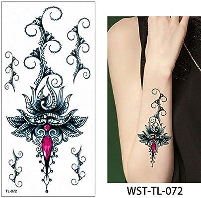 3ps-Body Art Tattoo Etiqueta engomada del tatuaje femenino ...