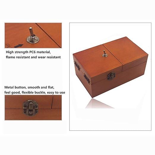 YMJJ Creative Boring Box Caja de Almacenamiento de Madera ToySuper ...