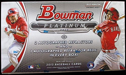 2013 Bowman Platinum Hobby Baseball Box (3 Autos and maybe Puig) - Baseball Cards 2014 Box