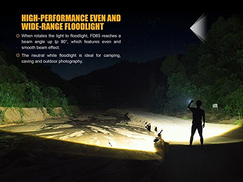 FENIX FD65 adjustable focus 3800 Lumen CREE LED military/ search rescue Flashlight with 2 X EdisonBright BBX3 battery carry cases bundle by EdisonBright (Image #3)