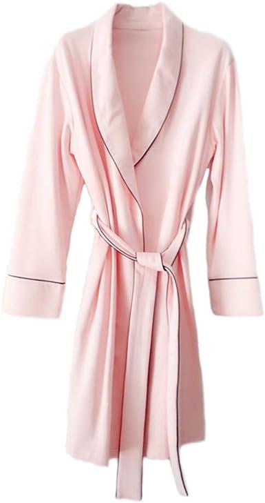 ZZCLOTH Batas de Mujer Bata Ligera de algodón Bata de Punto Corta Albornoz Suave Ropa de Dormir para Mujer S-XL: Amazon.es: Ropa y accesorios