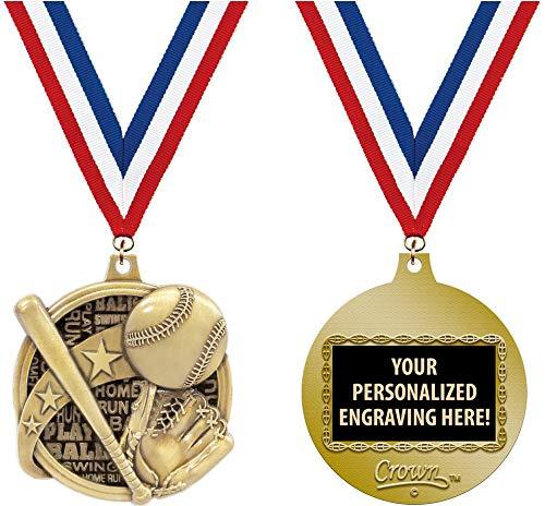 Baseball Medals - Crown Awards Custom Baseball Medals, 2
