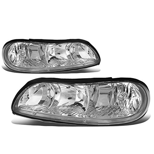 (For Chevy Classic/Malibu Pair of Chrome Housing Clear Corner OE Style Headlight)