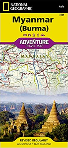 Myanmar burma national geographic adventure map national flip to back flip to front gumiabroncs Gallery