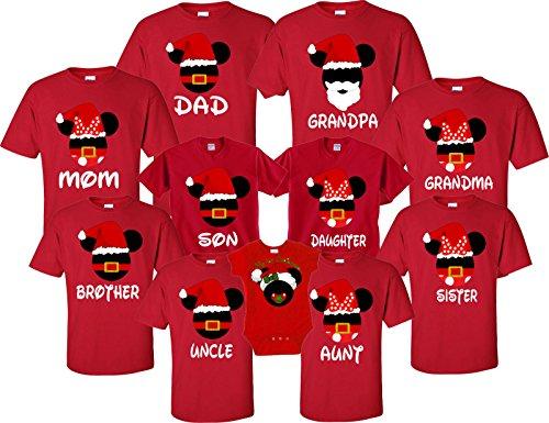 Mickey & Minnie Merry Christmas family Vacation Disney Funy Matching (Disney Christmas Shirts)