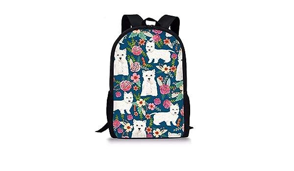 dbebd832a24e Amazon.com | Coloranimal Funny Animal Westie Florals Printed ...