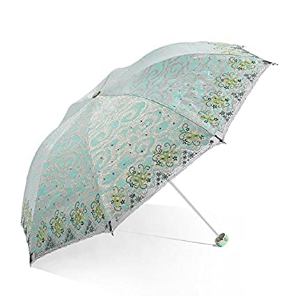 Paraguas plegable automatico Mujer niño Hombre an- Parasol Plegable Bordado Protector Solar Anti-luz