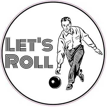 U.S. Custom Stickers Let's Roll Bowling Circle Sticker, ...