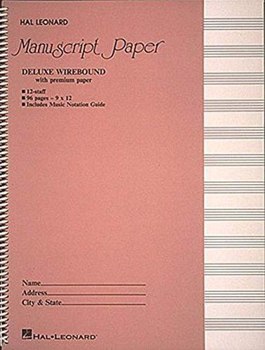 - Deluxe Wirebound Premium Manuscript Paper (Pink Cover)