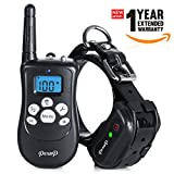 12312 Pexup Remote Shock Dog Training Collar – 3 Modes: Beep, Vibrate, Shock Stimulation – Rechargeable and 100% Waterproof