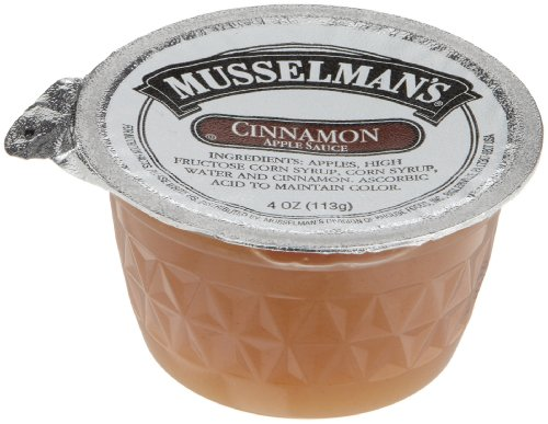 Musselman's Cinnamon Sweetened Applesauce, 4-Ounce Cups (Pack of 72) by Musselmans (Image #1)