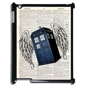 Doctor Who Tardis Police Box Ipad 2/3/4 Case Hard Plastic Doctor Who Ipad Cover HD Image Snap ON