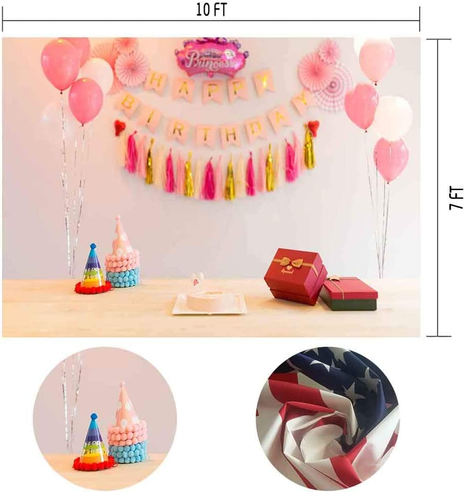 MME 10X7ft Pink Dream Birthday Party Balloon Banner Photography Backdrop Photo Booth Props XCME359