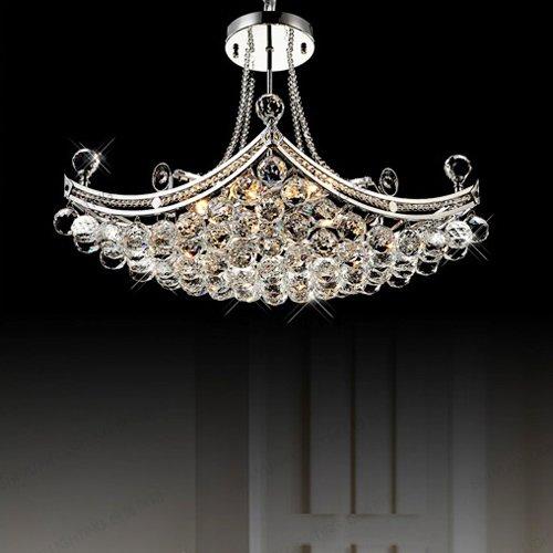 LightInTheBox Modern Luxury Delicate 6 Light Pendant With Crystal Balls, Modern Home Ceiling Light Fixture Flush Mount, Pendant Light Chandeliers Lighting, Voltage=110-120V by LightInTheBox (Image #4)
