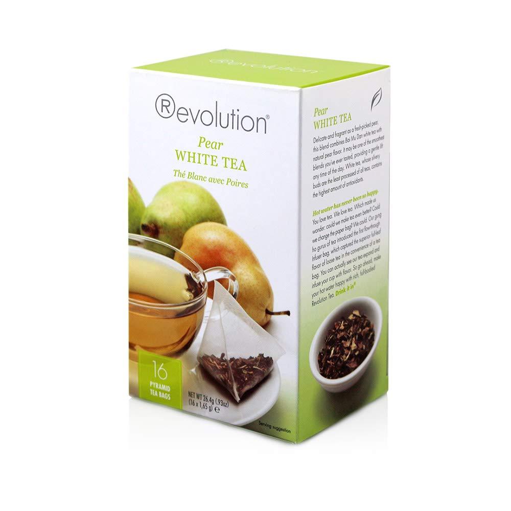 Revolution Tea White Pear Tea, 16-Count Teabags (Pack of 6)