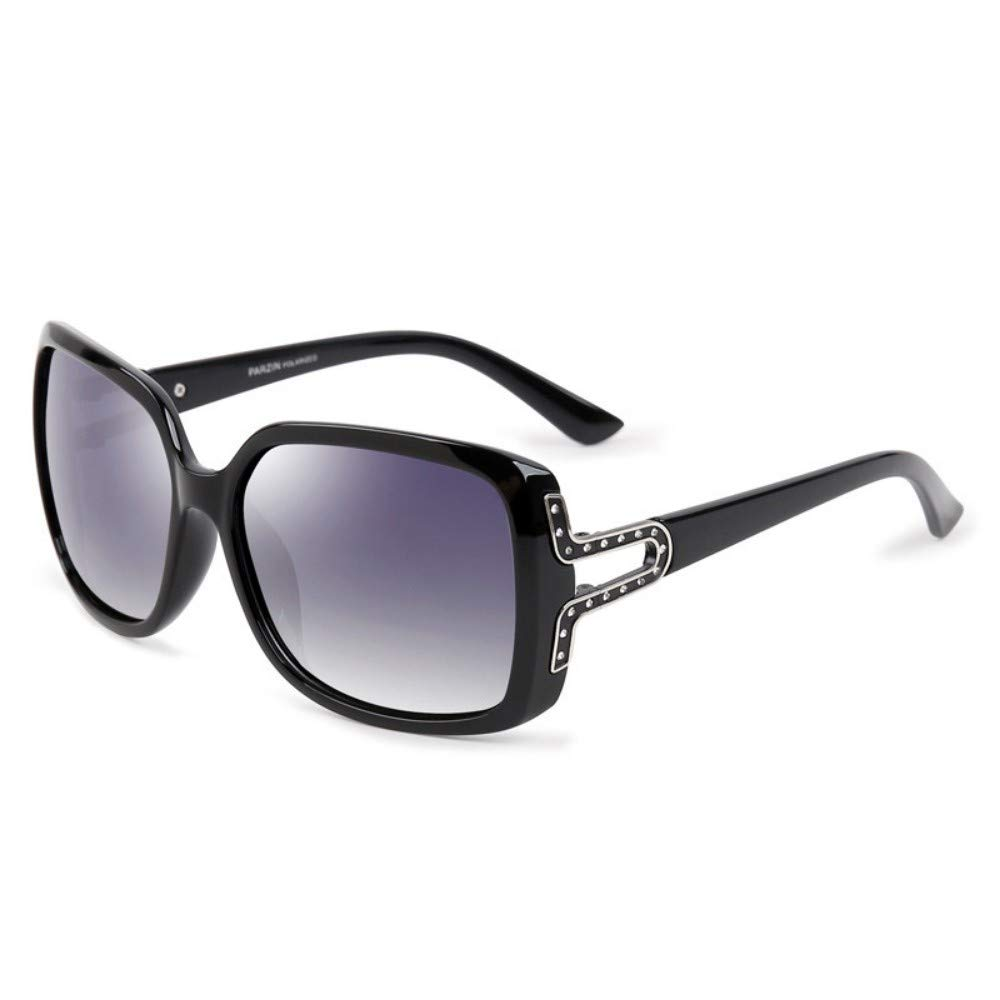 Retro Fashion Glasses Sunglasses Sunglasses Fashion Ladies Polarized Sunglasses Bright Black