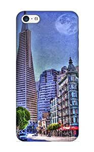 Elizabethshelly Premium Protective Hard Case For Iphone 5c- Nice Design - San Francisco Transamerica Pyramid And Columbus Tower View From North Beach