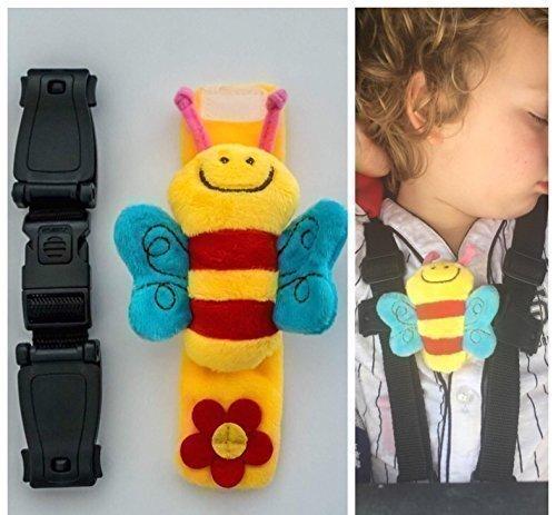 Buggy Buddy Brust-Clip Escape-me-not für Kinderwagen-Gurte; Sicherheitsclip, der verhindert, dass Kinder die Arme aus dem Gurt ziehen